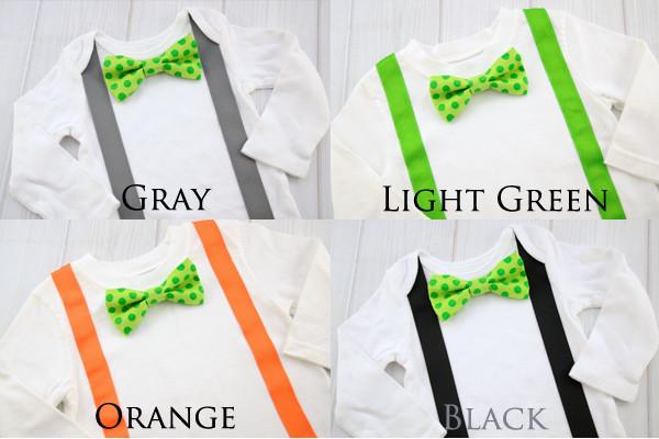 Green Dots Bow Tie Shirt