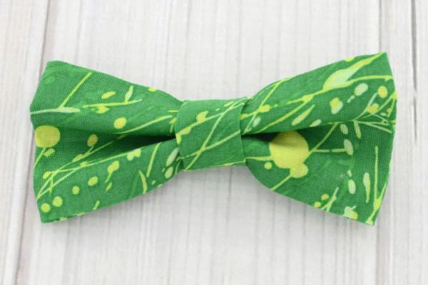 Green Paint Splatter Bow Tie Shirt