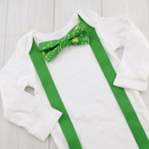 Green Paint Splatter Bow Tie Shirt