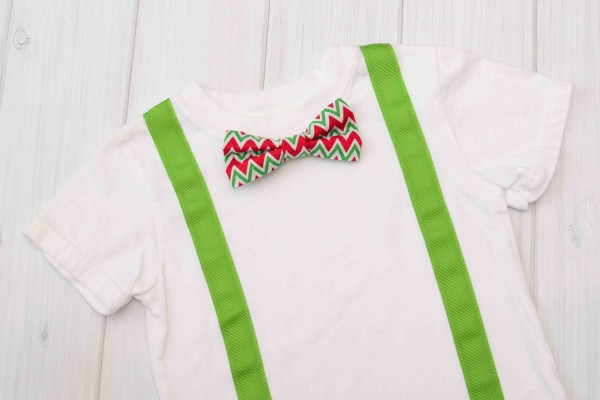 Chevron Bow Tie & Suspender Shirt