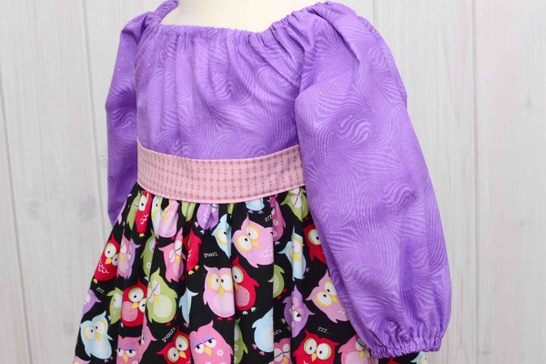 Owls Peasant Dress