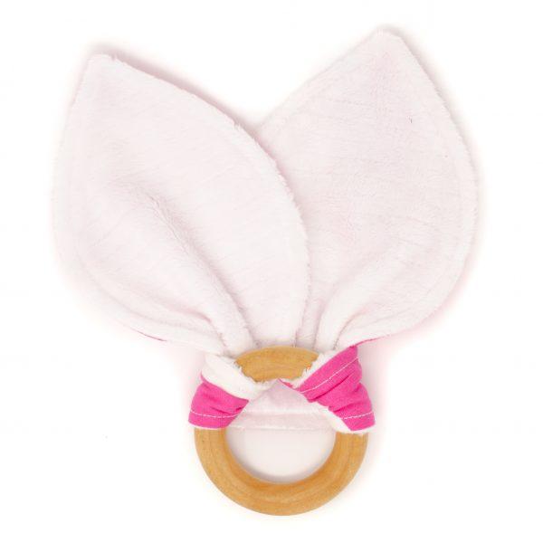 Pink Chevron Teething Ring