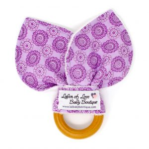 Purple Circles Teething Ring