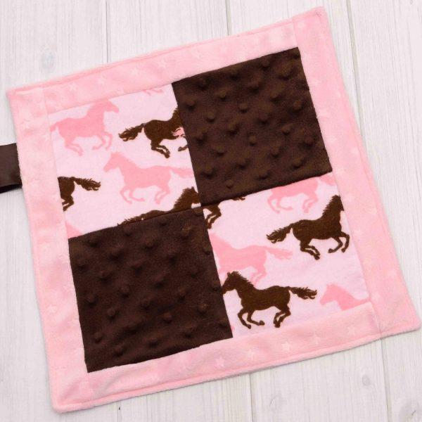 Horses Sensory Blanket Toy