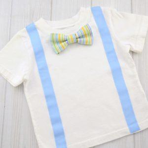 Stripe Bow Tie Shirt