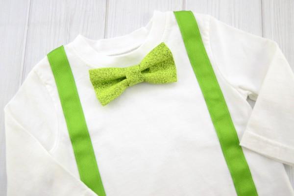 Textured Green Bow Tie Shirt