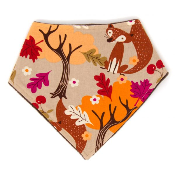 Autumn Fox Bandana Bib