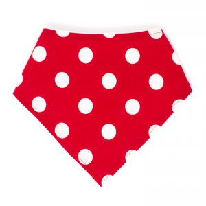 Red & White Dots Bandana Bib