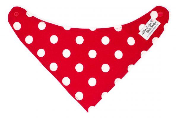 Red & White Dots Bandana Bib