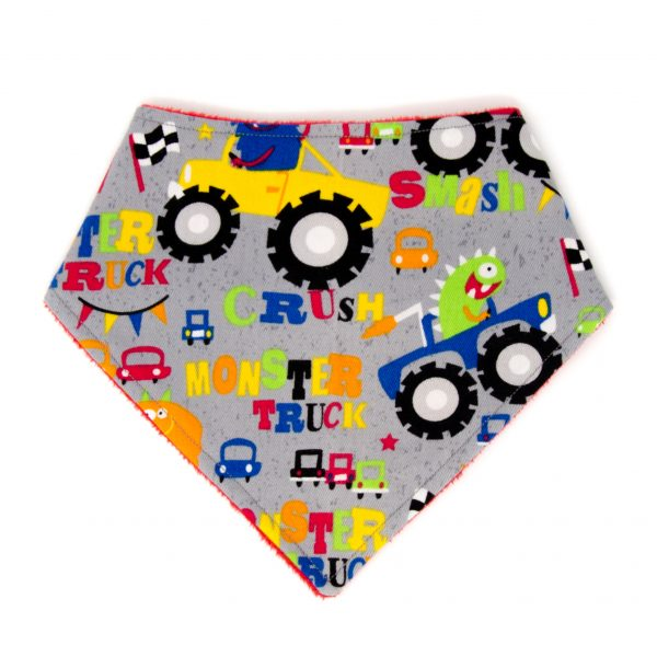 Monster Truck Bandana Bib