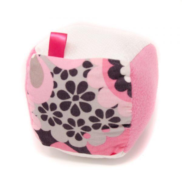 Pink & Gray Rattle Block