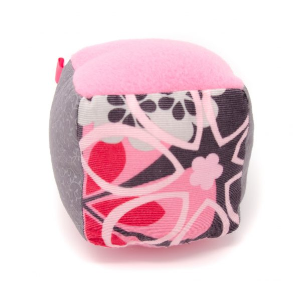 Pink & Gray Rattle Block
