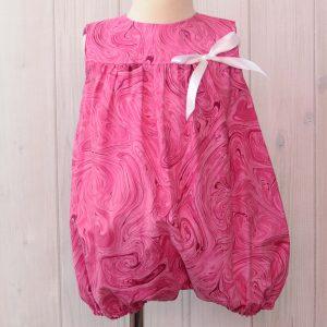 Pink Swirl Bubble Romper