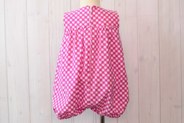 Pink Dots Bubble Romper