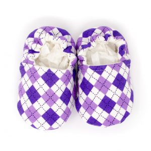 Purple Argyle Shoes