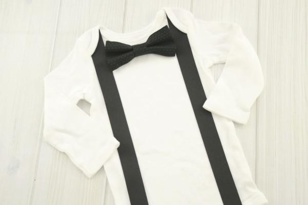 Black Bow Tie Shirt