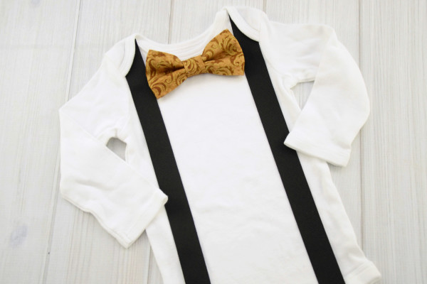 Gold Bow Tie Shirt
