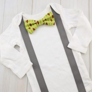 Green Argyle Bow Tie Shirt