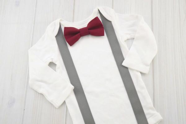 Maroon Bow Tie Shirt
