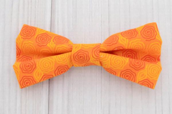 Orange Swirls Bow Tie Shirt