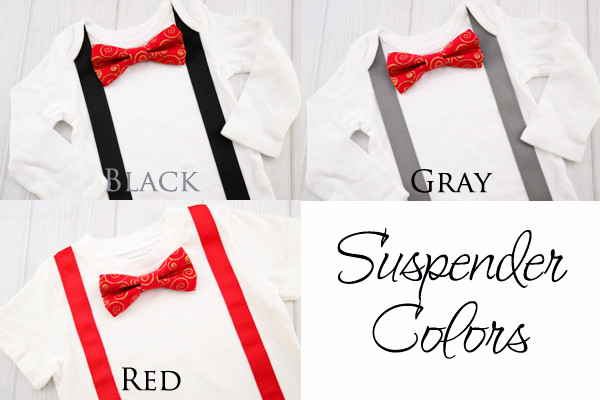 Red and Gold Bow Tie Shirt