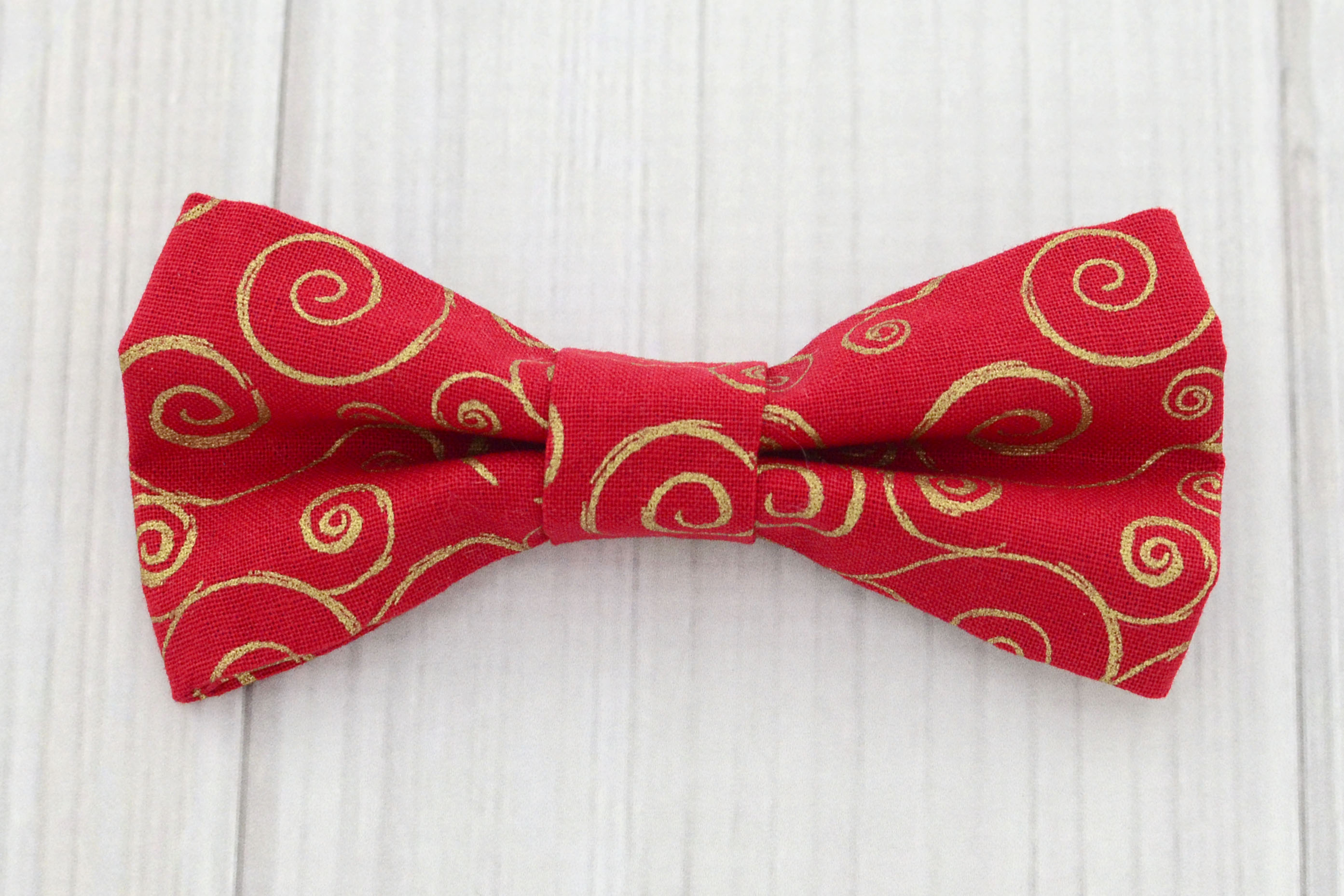 Red /& Gold Bow Tie