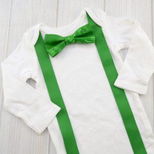 Three Leaf Clover Bow Tie Shirt