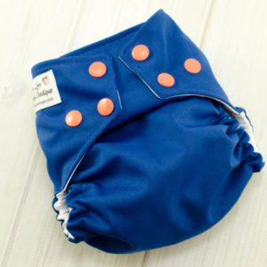 One Size Navy Blue Cloth Diaper Cover