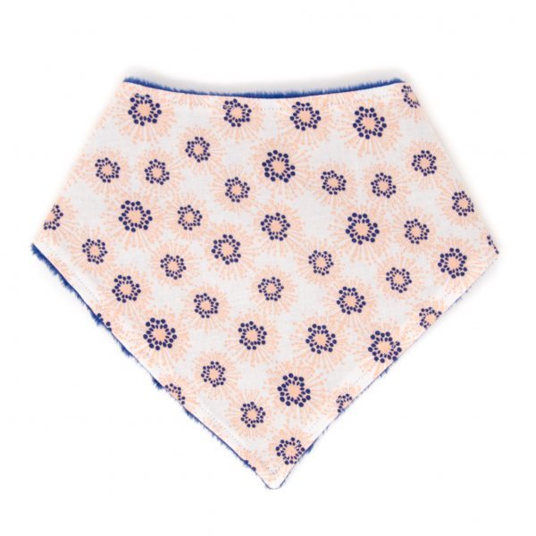 Peach Flowers Bandana Bib