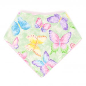 Green Butterfly Bandana Bib