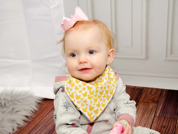 Yellow Butterfly Bandana Bib- Eyla