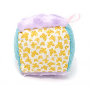 Yellow Butterfly Rattle Block