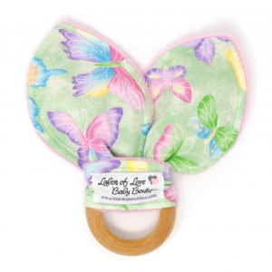 Green Butterfly Teething Ring