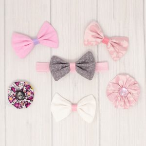 Light Pink Hair Bow Set