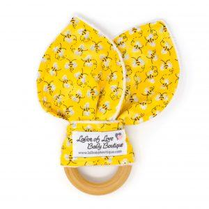 Honey Bee Teething Ring