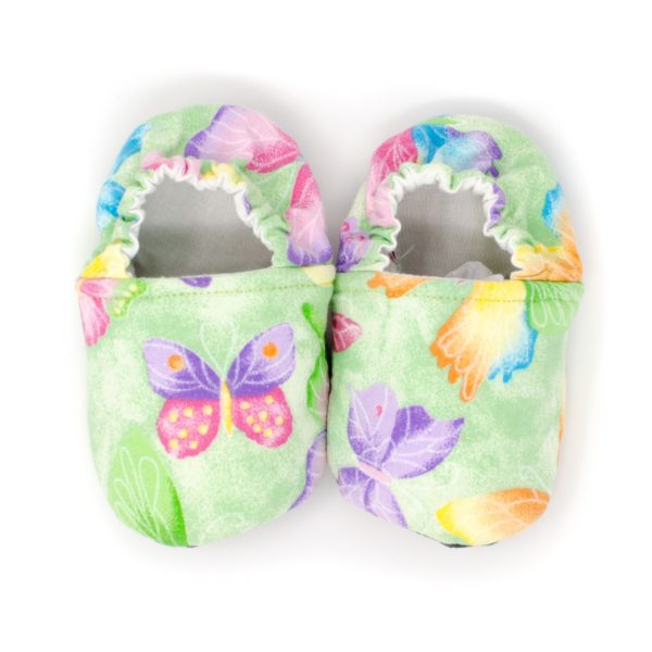 Green Butterfly Baby Shoes