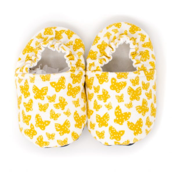 Yellow Butterfly Baby Shoes