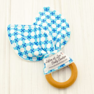 Blue Dots Teething Ring