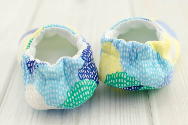 Blue Scallops Baby Shoes