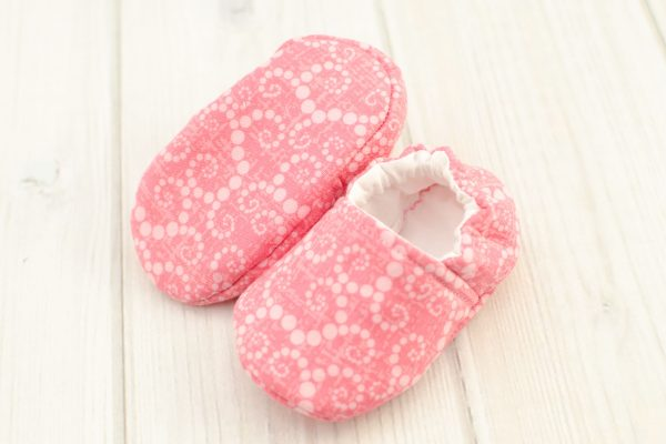 Coral Dots Baby Shoes