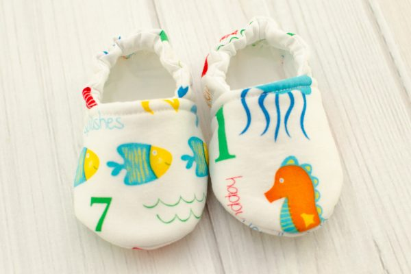 Counting Fish Baby Shoes