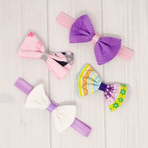 Pink & Purple Bow Set