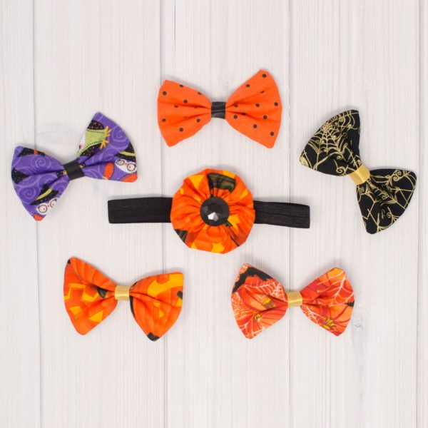 Halloween Bow Set - Purple Owls