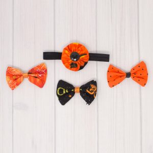Halloween Bow Set - 4 Bow Set