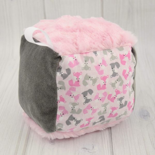 Pink Fox Rattle Block