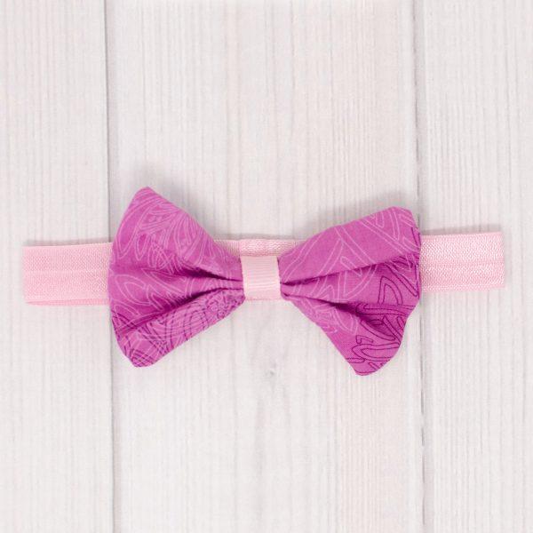 Purple Hair Bow & Headband