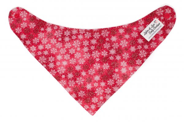 Red Snowflake Bandana Bib