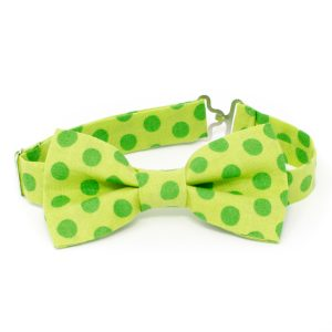 Green Dots Bow Tie