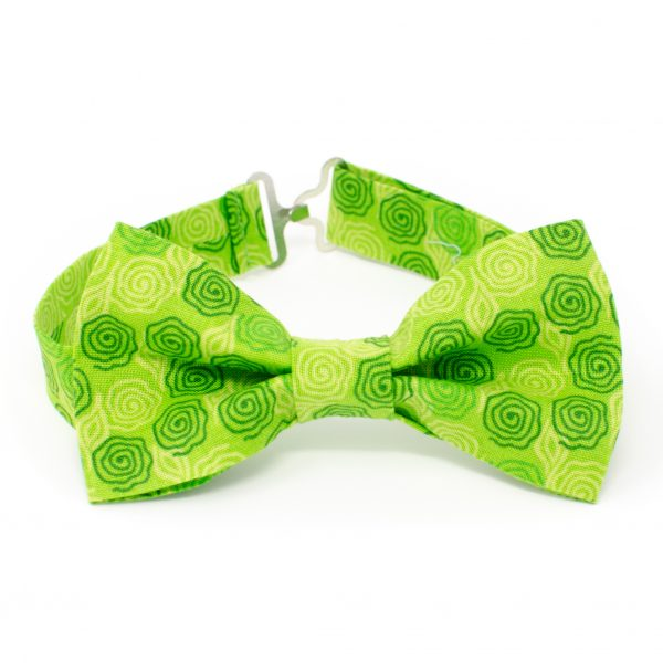 Green Swirls Bow Tie