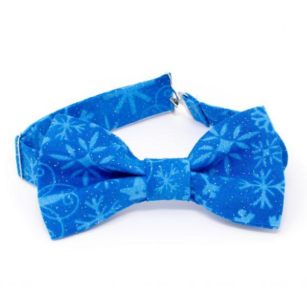 Blue Snowflake Bow Tie